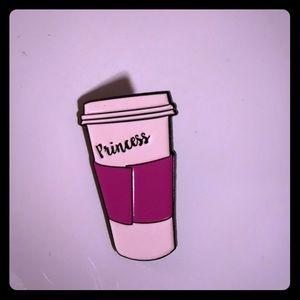 Coffee Princess Pin